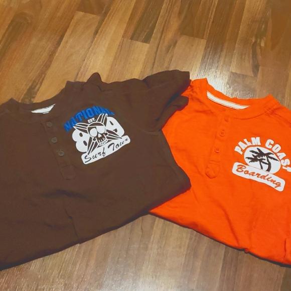 Childrens Place Boys Medium 7/8 half button shirts